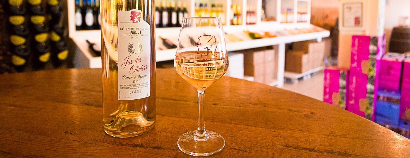 Vin du var vin rose Jas des Oliviers